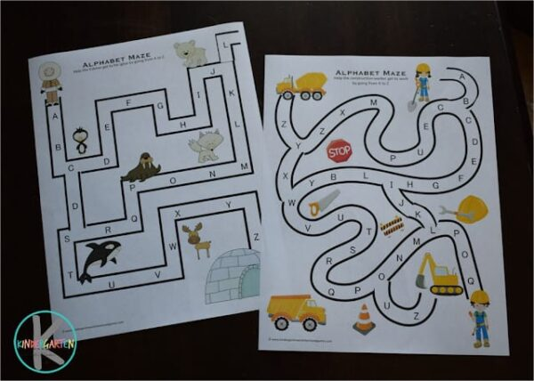 fun ABC Printables to practice alphabetical order with preschoolers, kindergartners and first graders