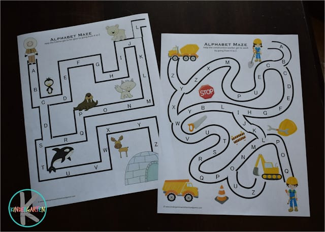 FREE Alphabet Maze Pages To Make Learning ABCs FUN!