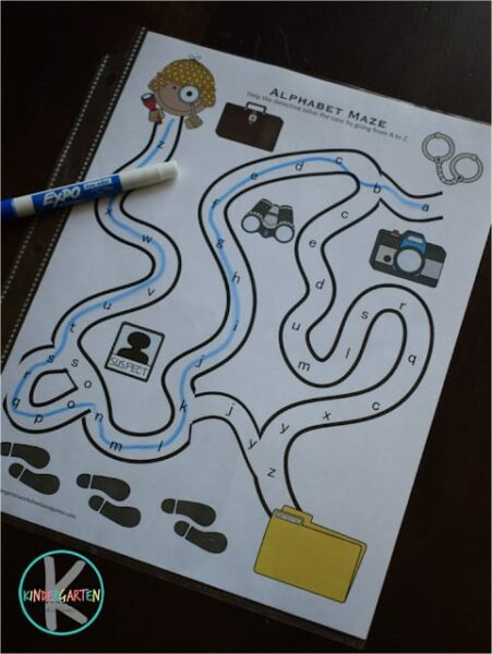 help pre k and kindergarten age students practice their abc order with these printable alphabet mazes