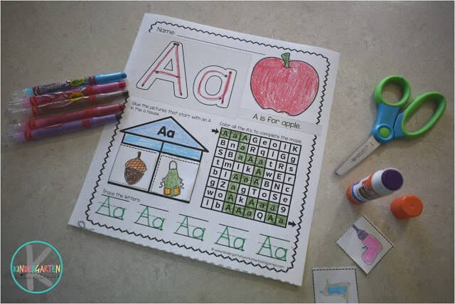 FREE printable alphabet worksheet to help preschool, kindergarten, and first grade kids practice their letters, phonics sounds, and more!