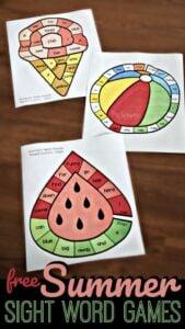 preschool activities for summer