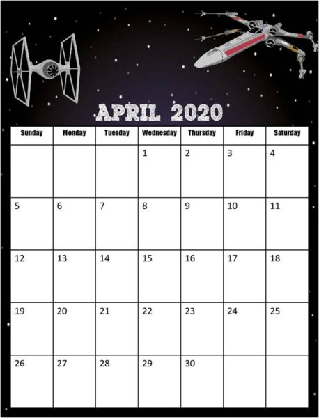 super cute free printable 2020 calendar