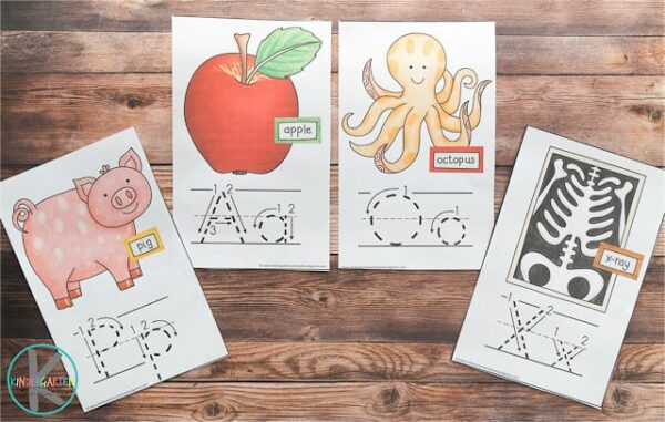Learn your ABC by seeing these Alphabet Wall Cards with how to form each upper case and lower case letter as well