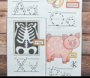 Kids learning their ABCs need to be able to see alphabet letters frequently so they can see how to properly form their upper and lowercase letters!  Grab these super cute, free printable Alphabet Wall Cards to help preschool, pre k, kindergarten, and first grade students learn letters from A to Z.