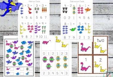 FREE Dinosaur Math Worksheets
