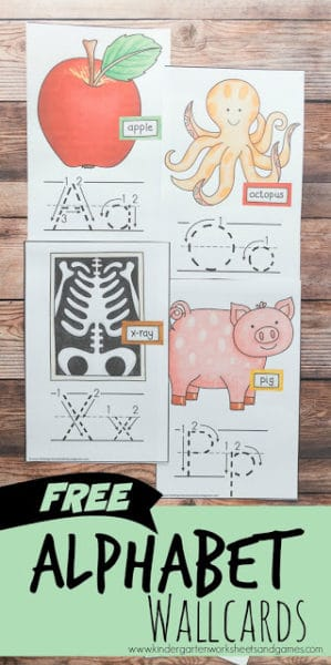 FREE Letter Flashcards - these alphabbet wallcards are great for hanigng on your wall or using to play a fun abc game with toddlers, preschoolers, and kindergartners. #alphabet #wallcards #alphabetprintable