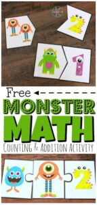 Make practicing math with preschool, pre-k, kindergarten, and first grade fun with Monster Math! This monster math addition have super cute, silly, and colorful monsters for children to count and match with the correct numerals. There are also 3 piece puzzles where students will be introduced to addition. This is such an easy way to keep kids engaged and having fun while practicing kindergarten math!