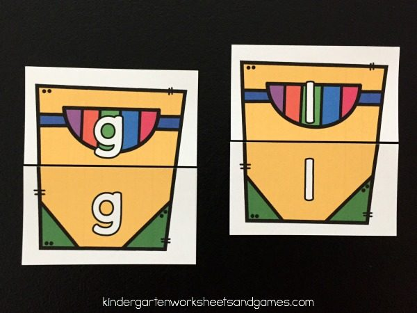 Alphabet Match - uppercase letter and lowercase letter matching activity