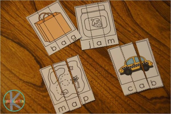 This CVC Words Activity is available in color and black & white