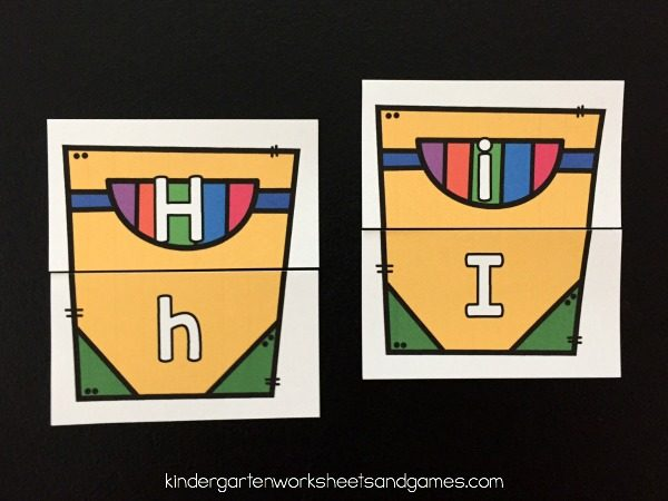 Upper and Lowercase Letters Alphabet Activity with 3 ways to play