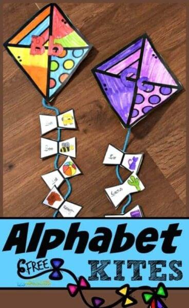 alphabet kites for beginning sounds