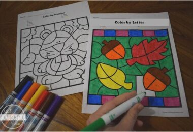 FREE Fall Color by Letter Worksheets