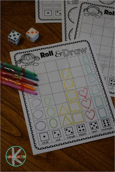 kindergarten shape worksheets free