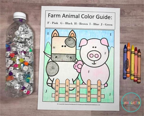 Free printable farm animal ABC Search for kindergartners to learn their letters