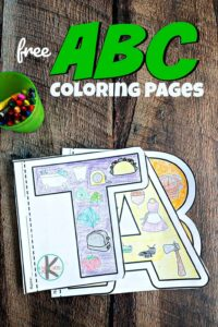 free printable alphabet coloring pages for preschool, pre k, kindergarten age students to work on phonemic awareness, strengthening hand muscles, and learning alphabet letters