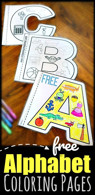 Free Alphabet Coloring Pages