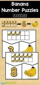 banana fruit printables printable number puzzles
