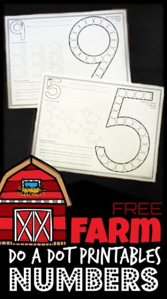 Kids will have fun learning to form their number with these fun count to 10bingo marker number worksheetsperfect for preschool, prek, and kindergarten age kids. These FREE Farm Bingo Marker Numbers Worksheets are my kids favorite number worksheets.