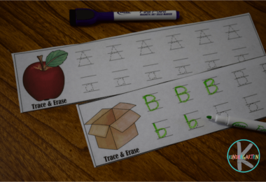 FREE Alphabet Trace and Erase strips