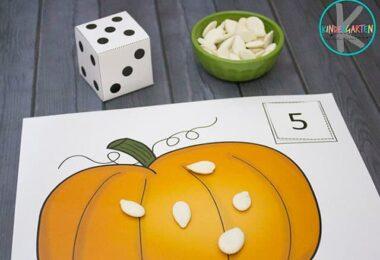 FREE Pumpkin Counting Mats