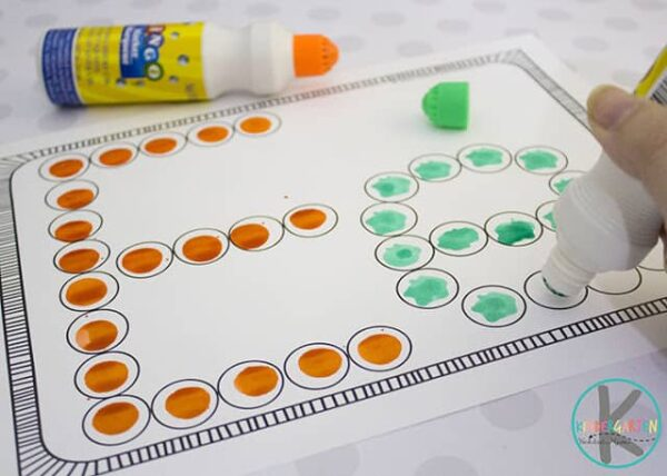 Bingo Daubers Printables for kids to practice making abcs