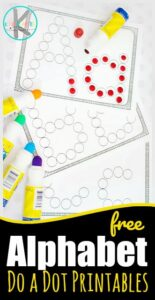 FREE Alphabet Do a Dot Printables - these simple abc worksheets are a great activity to help children practice their upper and lowercase letters using bingo markers / bingo daubers. Perfect free printable worksheets for toddlers, preschoolers, and kindergarteners