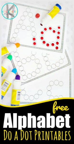 Kids will have fun practicing making alphabet letters from A to Z with these FREE bingo dauber letters alphabet worksheets These no prep do a dot printables are such a fun way for toddler, preschool, pre k, and kindergarten age students to practice making upper and lowercase letters.
