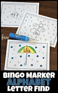 Bingo Marker Alphabet Worksheets