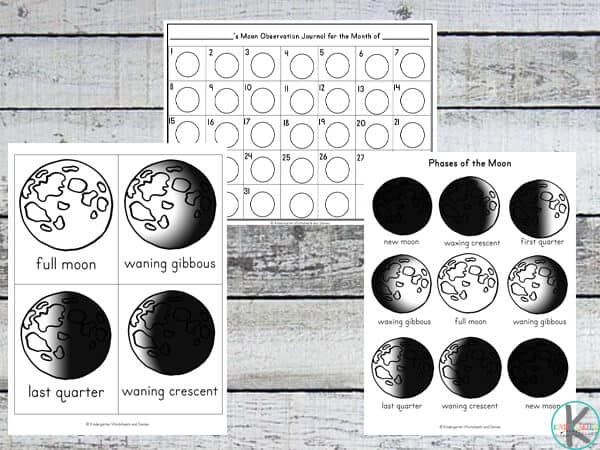 Free Moon Phases Worksheets Kindergarten Worksheets And
