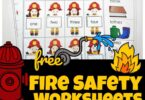 These super cute fire safety Worksheets are perfect for fire prevention week. Included in this pack of fire safety printables are rhyming worksheets, syllable worksheets, cut and paste worksheets, and more printable worksheets for kindergarteners to have fun learning with a firefighter theme!