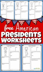 free American presidents worksheet