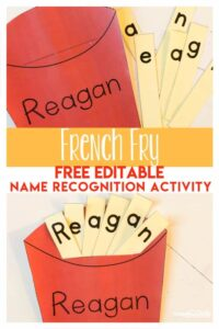 french fry name craft for kids
