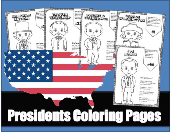 all 46 us presidents coloring pages for kids