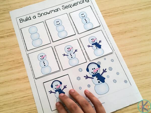 FREE Build a Snowman Sequencing Worksheets