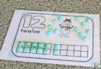 FREE Winter Playdough Counting Mats