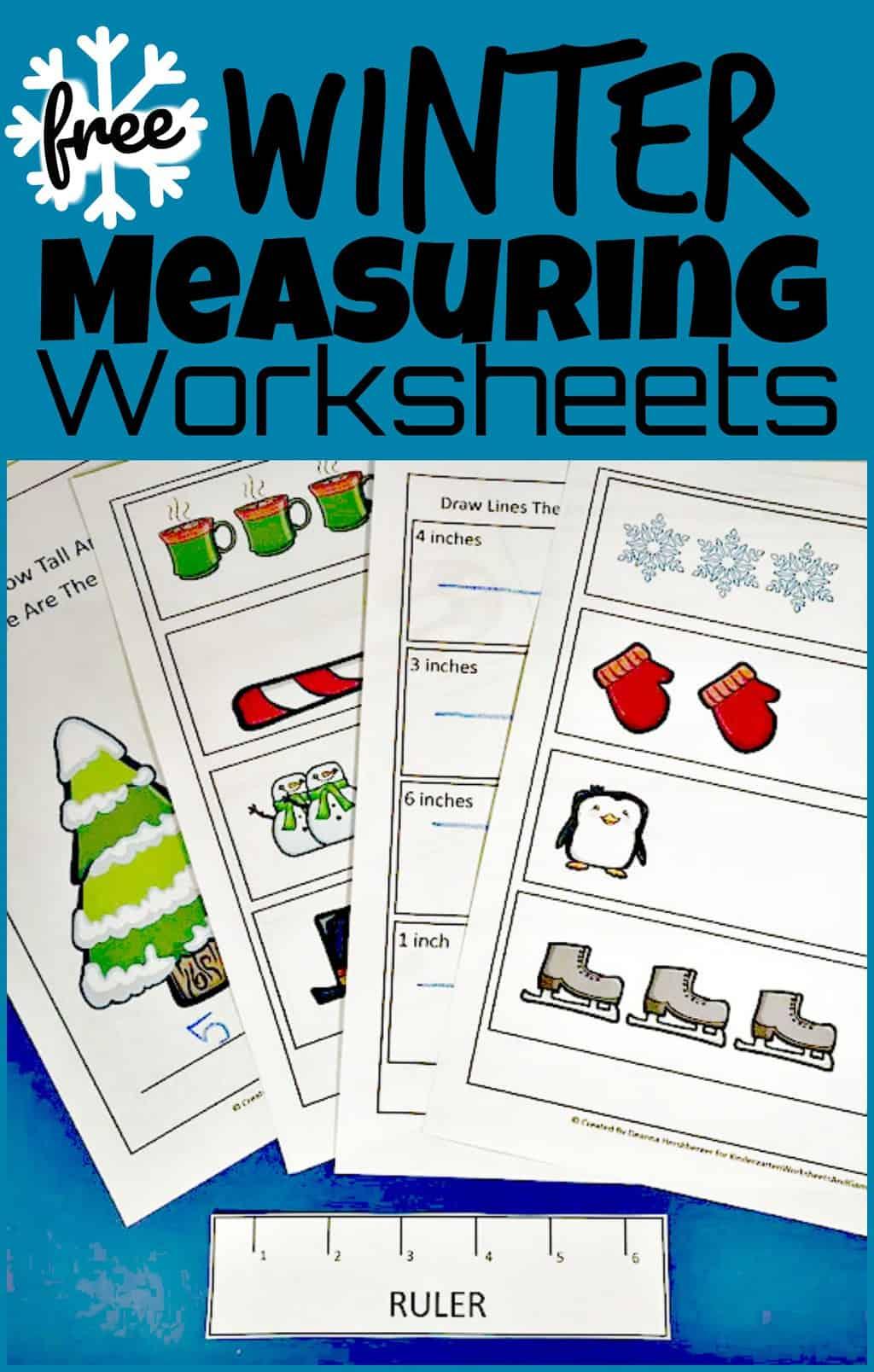 Free Winter Ruler Measurements Worksheets - View Winter Worksheets For Kindergarten Gif
