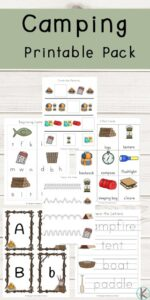 tons of free printable camping worksheets for toddler, preschool, kindergarten, and first grade