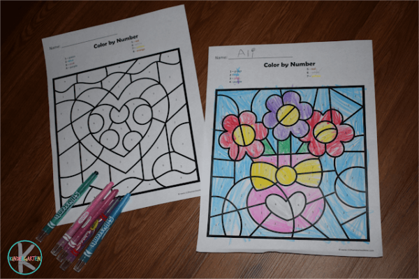 Valentines Day Hundreds Chart Worksheets