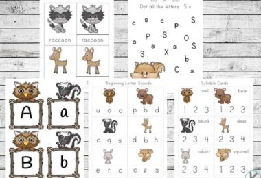 FREE Forest Animals Printables