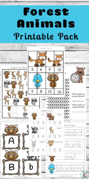 Kids will have fun learning about animals of the forest with this pack of 60+ Forest AnimalsWorksheets pages. This free forest animal printables contains lots of fun, engaging math and litearacy skills activities. Use these forest animal printables with toddler, preschool, pre-k, kindergarten, and first grade. Simply download pdf file with forest animals worksheets and you are ready to play and learn with animal worksheets.
