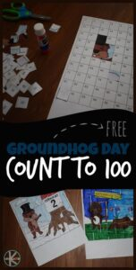 groundhog day worksheets cut and paste count to 100