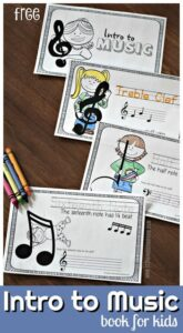 Intro to music for kids pritnable book