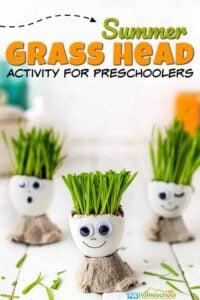 grass head activity for kindergarten