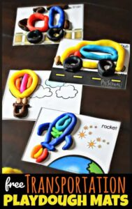 FREE Transportation Playdough Mats