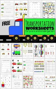 Here is a special printable pack of transportation worksheets for your vehicle lovers. This HUGE pack of 80+ pages of free printable transportation worksheet for kindergarten, preschool, pre-k, and first grade students is loaded with fun, learning activities all based on vehicles that drive on the land, fly in the sky oor sail in the ocean. Use thesetransportation printableswit your tranpsortation theme or construction theme to make learning FUN! SImply download pdf file withkindergarten worksheets and you are ready to learn.