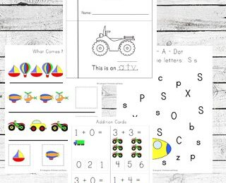 FREE Transportation Worksheets for Kids - free printables to help kids learn about bikes, trains, planes, trucks, airplanes, boats, cars, and so much more while learning their ABCs, alphabet letters, counting, skip counting, math, addition, subtraction, and so much more for toddlers, preschoolers, prek, kindergartners #preschool #preschoolworksheets #transportation