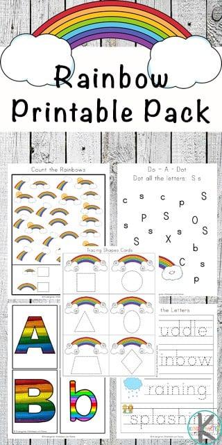 Rainbow Writing Worksheets For Kindergarten