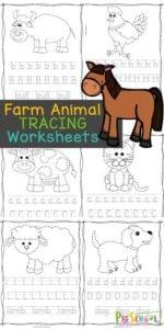 animal tracing worksheets