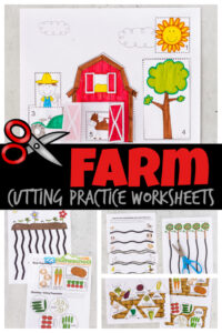 farm cutting practice worksheets