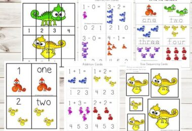 FREE Chameleon Colors Worksheets for Kids